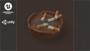 3D ashtray smoking model