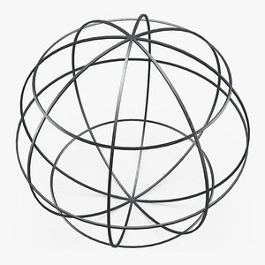 3D Wireframe Sphere 01