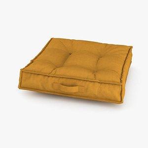 Velvet Floor Cushions 3D model