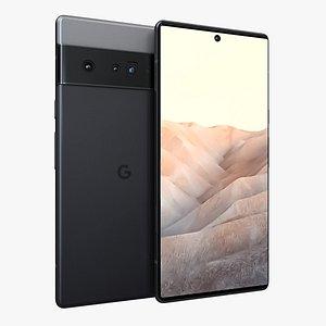 3D Google Pixel 6 Black