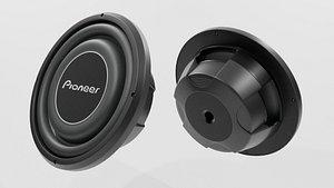 3D Speaker Pionner Woofer 03 - Blender 3d