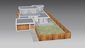 Beach of house  Playa de casa  Low poly 3D model
