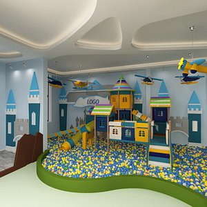 3D model interior playroom playground