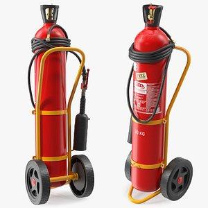 abs srl trolley extinguisher 3D model