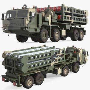 3D Camouflage Vityaz S 350E 50R6 Missile Launcher model