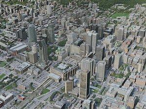 3D model montreal city