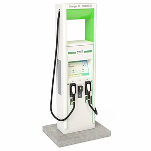 Electric Vehicle Charging Station Electrify America Part 2 model