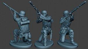 3D german soldier ww2 schiessbecher model