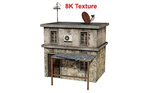 Old house Low-poly 3D model