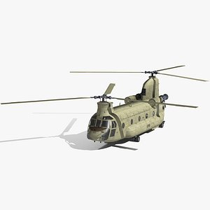 ch-47 chinook helicopter australian 3D