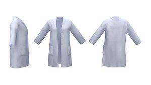 Ladies Lab Coat 3D model