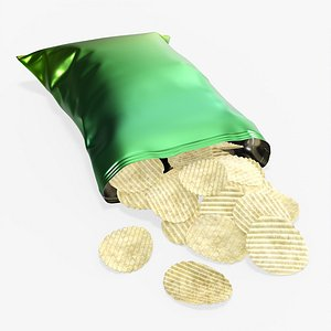 3D mockup folds potato