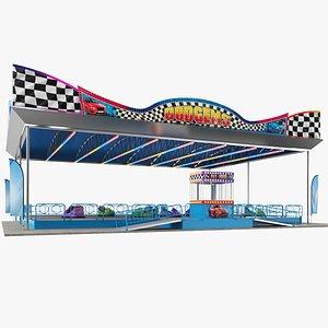 3D real bumper cars platform