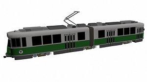 3D green train
