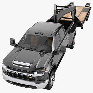 3D Chevrolet Silverado 3500 HD 2021 08 model