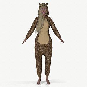 3D girl kigurumi model