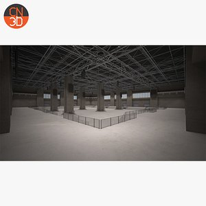 3D Hall low poly - Multifunctional 3D model
