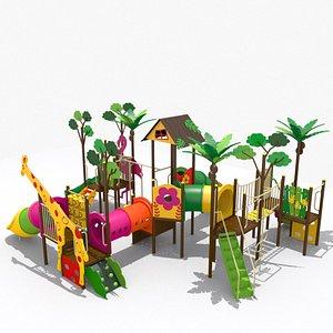 Playground Jungle Playset 3D