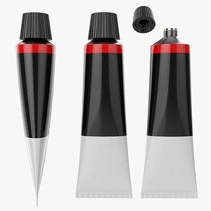 Paint tin tube 01 3D