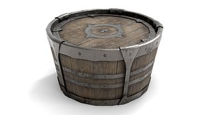 ancient wooden barrel model