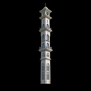 Mosque Minaret 3D model