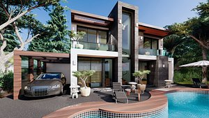 modern contemporary villa 2 model
