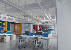 Public Office Area 1 3D model