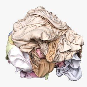 3D Clothes 243 Pile model