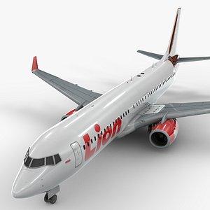 3D boeing 737-8 lion air
