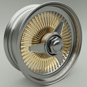 Car rim 3D model