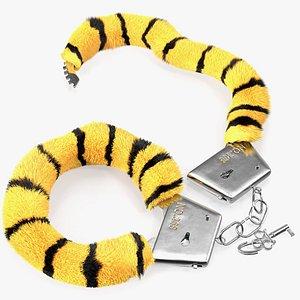 3D tiger handcuffs hand cuffs