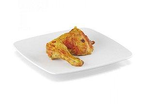 3D Fried chicken legs model