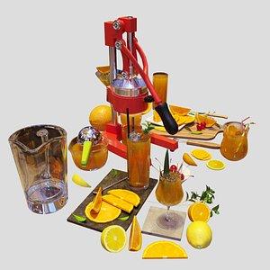 juice set oranges model