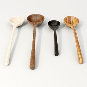 wood wooden spoon model