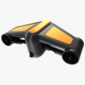 3D underwater scooter model