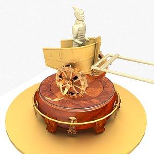 3D chariot warrior model