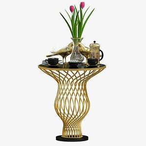 Coffee Table Gold Luxury model