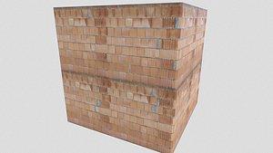 3D pbr brick walls model