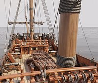 This 3D Galleon includes a fully detailed interior