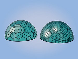 geodesic domes architecture model