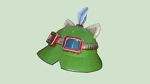 Teemo Helmet 04 Normal Damaged - Character Fashion Design 3D model