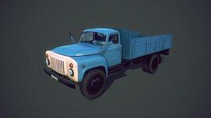 gaz 53 truck 3d obj