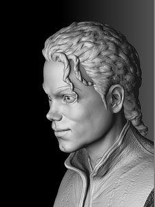Michael Jackson 3D printable 3D model