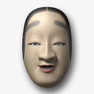 japanese noh-mask model
