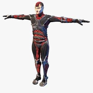 futuristic soldier prometheus 3D model
