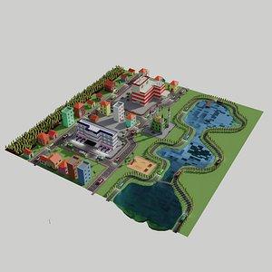 Cartoon Landspace 3D model