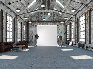 3D loft photo studio