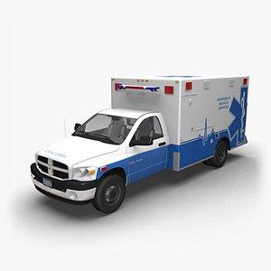 3D 2006 Dodge Ram Ambulance model
