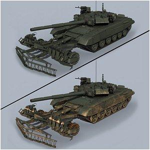 T-90 TMT-K mine roller 3D model