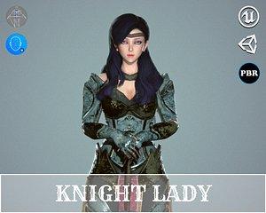 3D Knight Lady